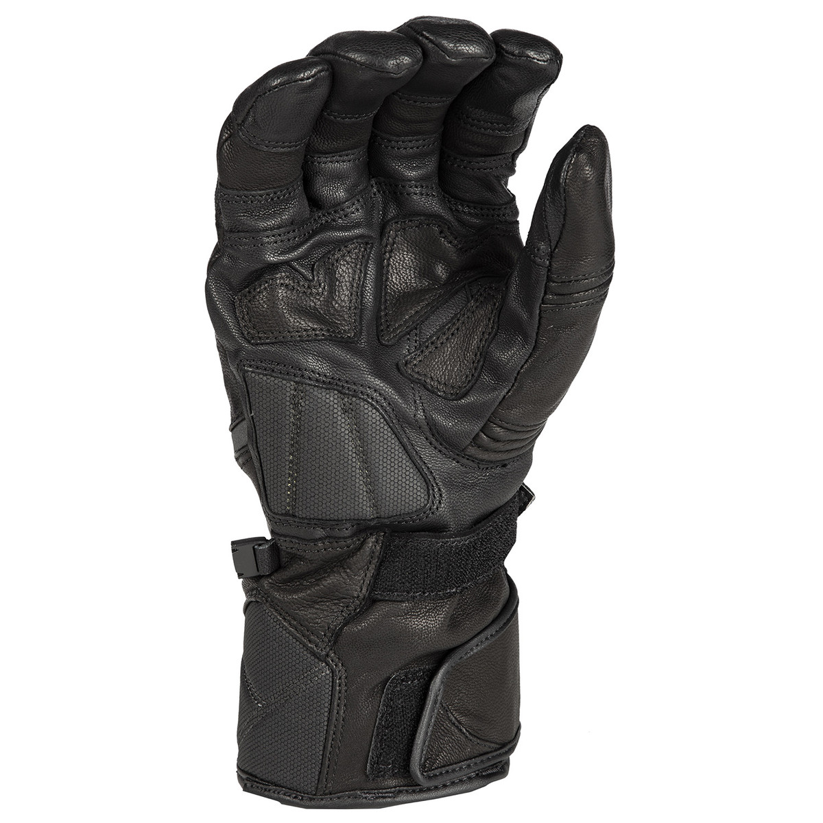 Klim Badlands GTX Long Black Back Motorcycle Gloves