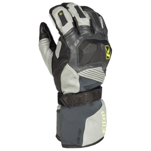 KLIM Badlands GTX Long Grey Grey Motorcycle Gloves