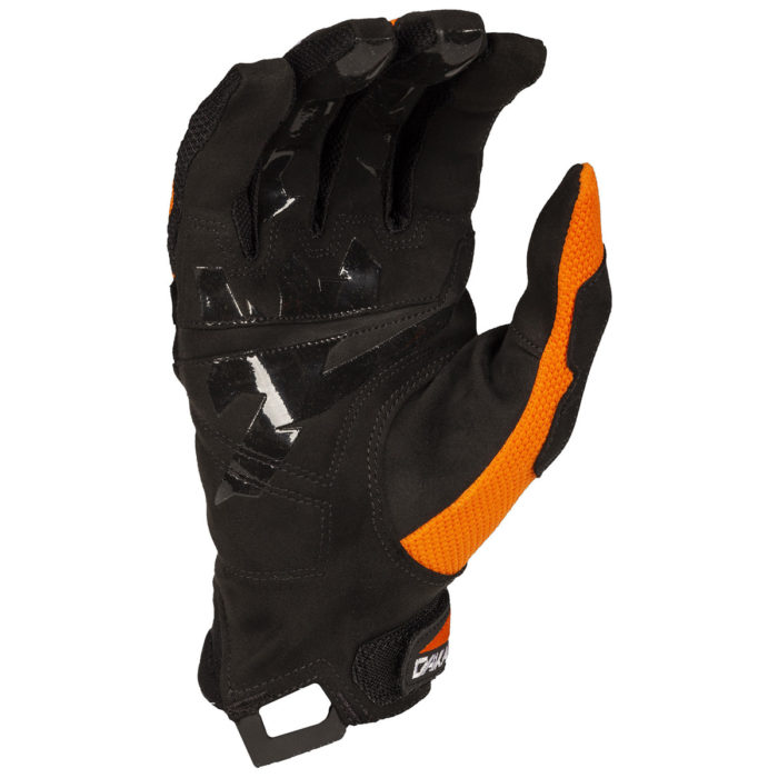 Klim Dakar Glove Orange Blue Palm