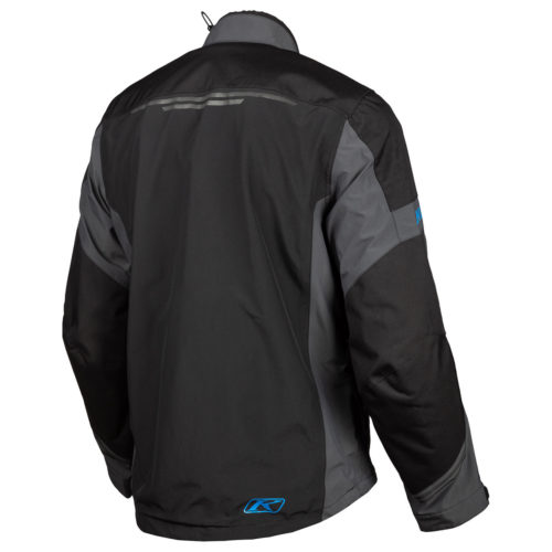 Klim Traverse Jacket Black Kinetic Blue Back