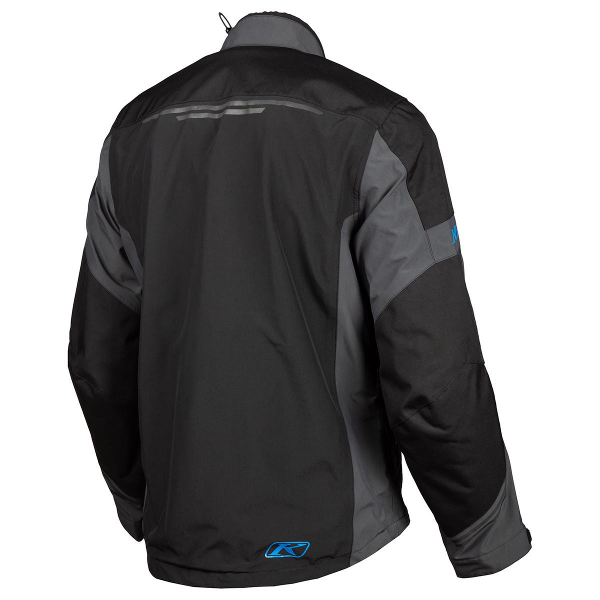Klim Traverse Jacket Black Kinetic Blue Back