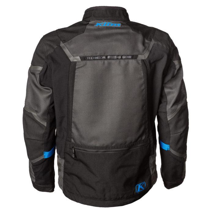 Baja S4 Jacket Black Kinetic Blue Back