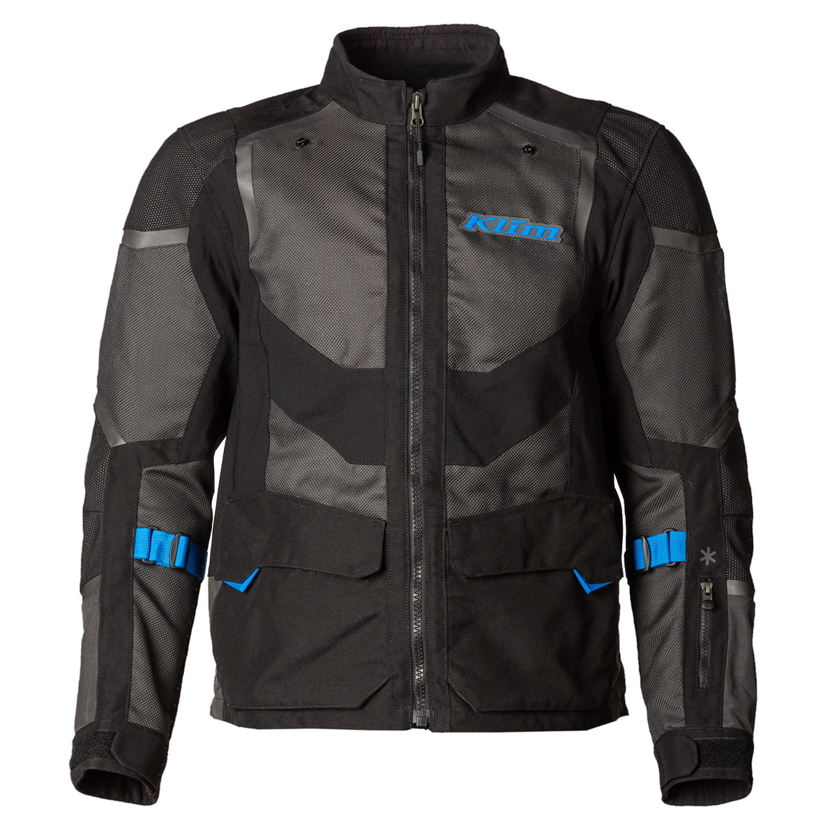 Klim Baja S4 Jacket Black - Kinetic Blue Front