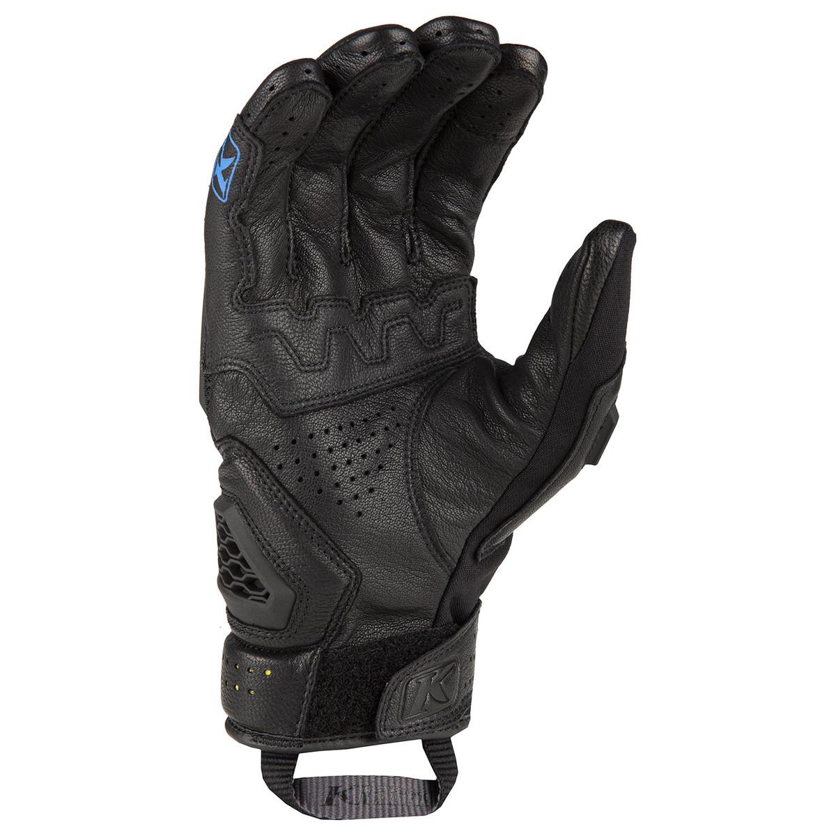 Klim Baja S4Glove Black - Kinetic Blue Back