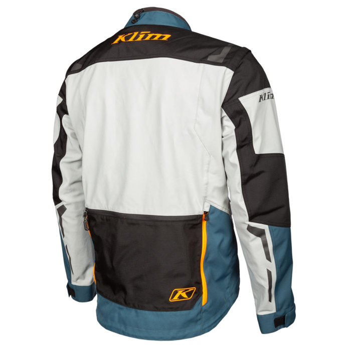 Dakar Jacket Petrol Orange Back