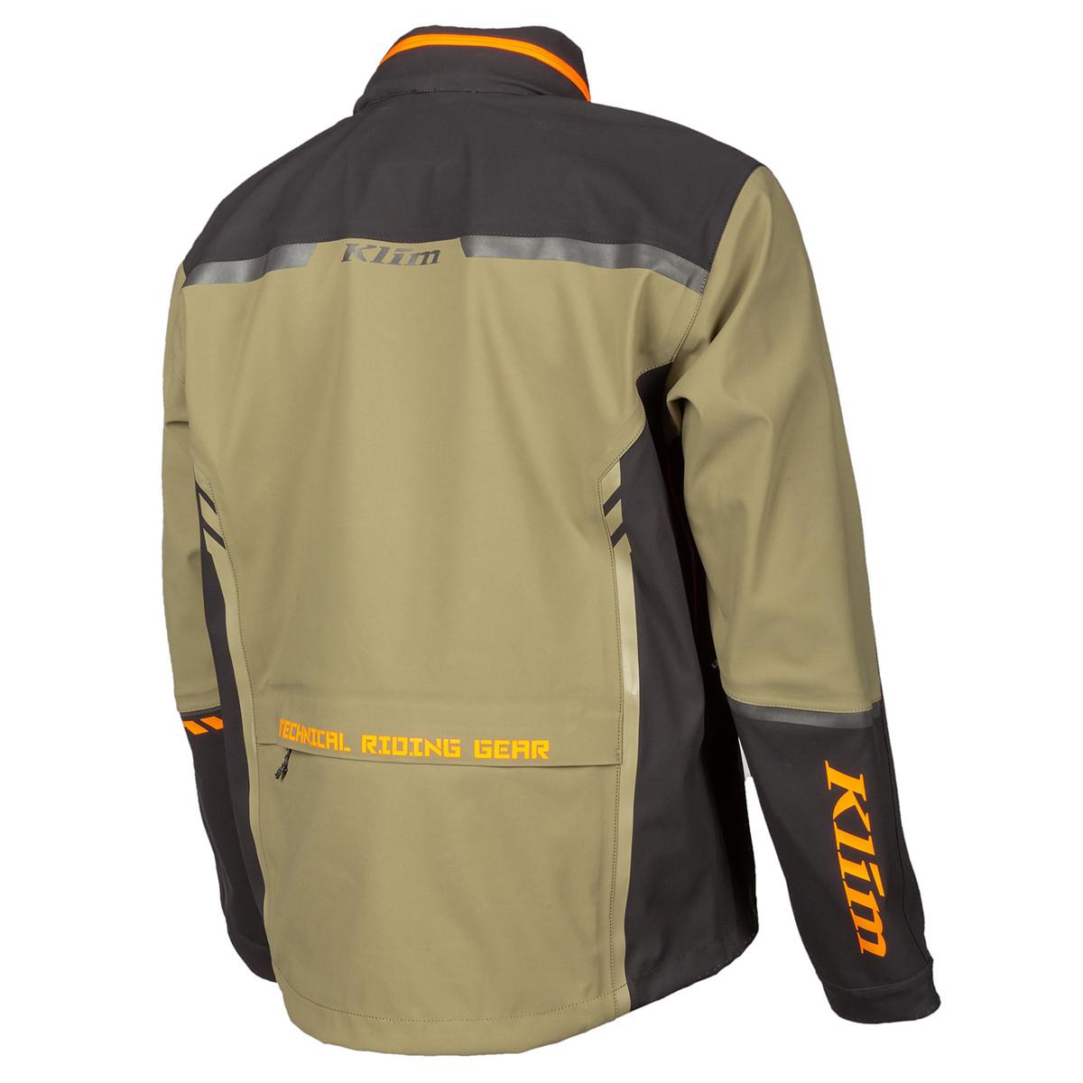 Enduro S4 Jacket BURNT OLIVE - STRIKE ORANGE Back