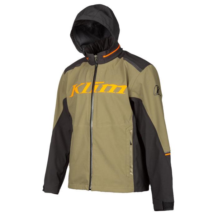 Enduro S4 Jacket BURNT OLIVE - STRIKE ORANGE Hood