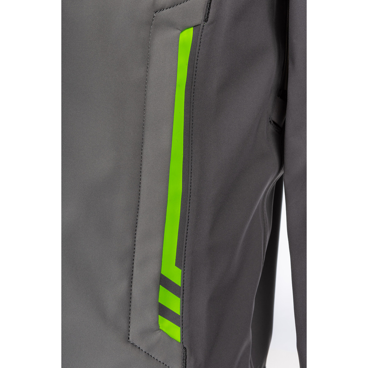 Enduro S4 Jacket Castlerock Gray - Electrik Gecko Detail Front