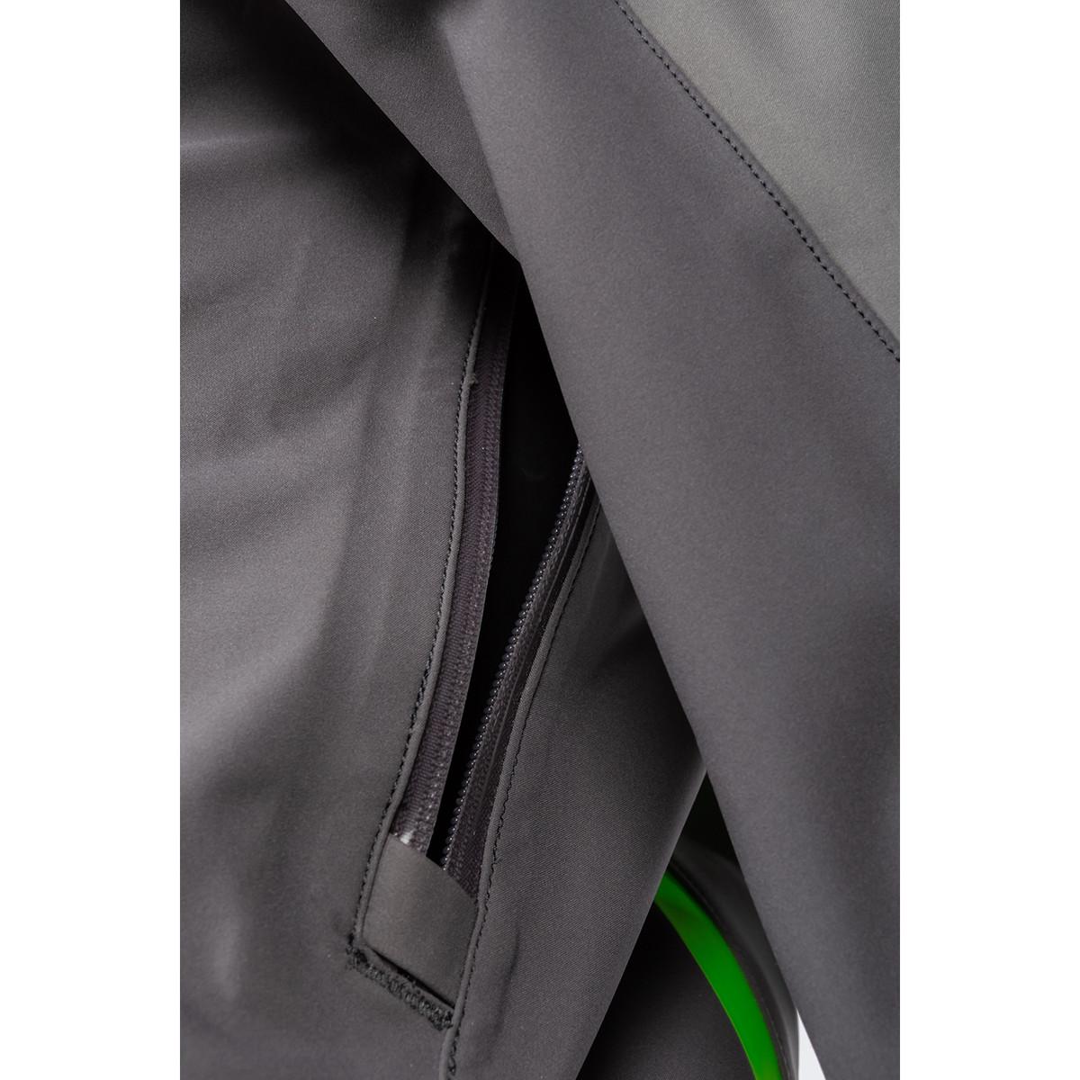 Enduro S4 Jacket Castlerock Gray - Electrik Gecko Zipper Detail