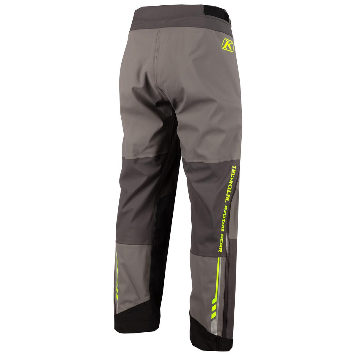 Enduro S4 Pants Castlerock Grey Electric Gekko Back