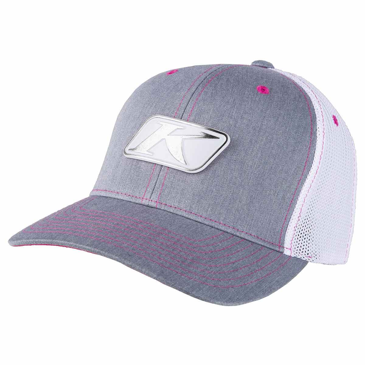 Icon Snap Hat Heathered Grey & Pink