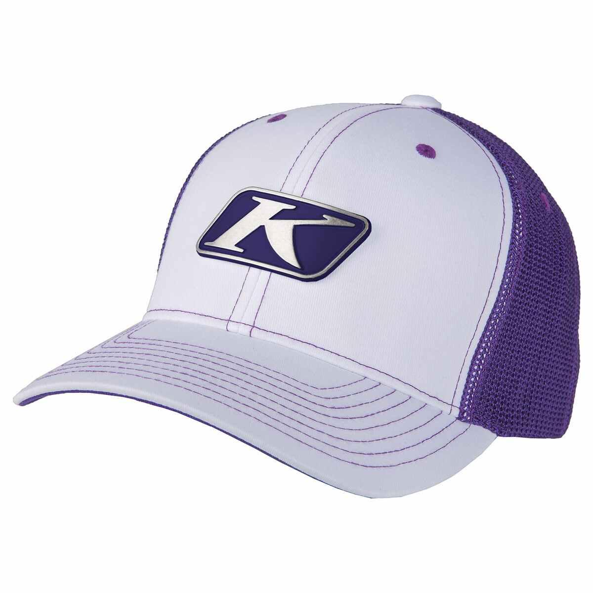 Icon Snap Hat White & Deep Purple
