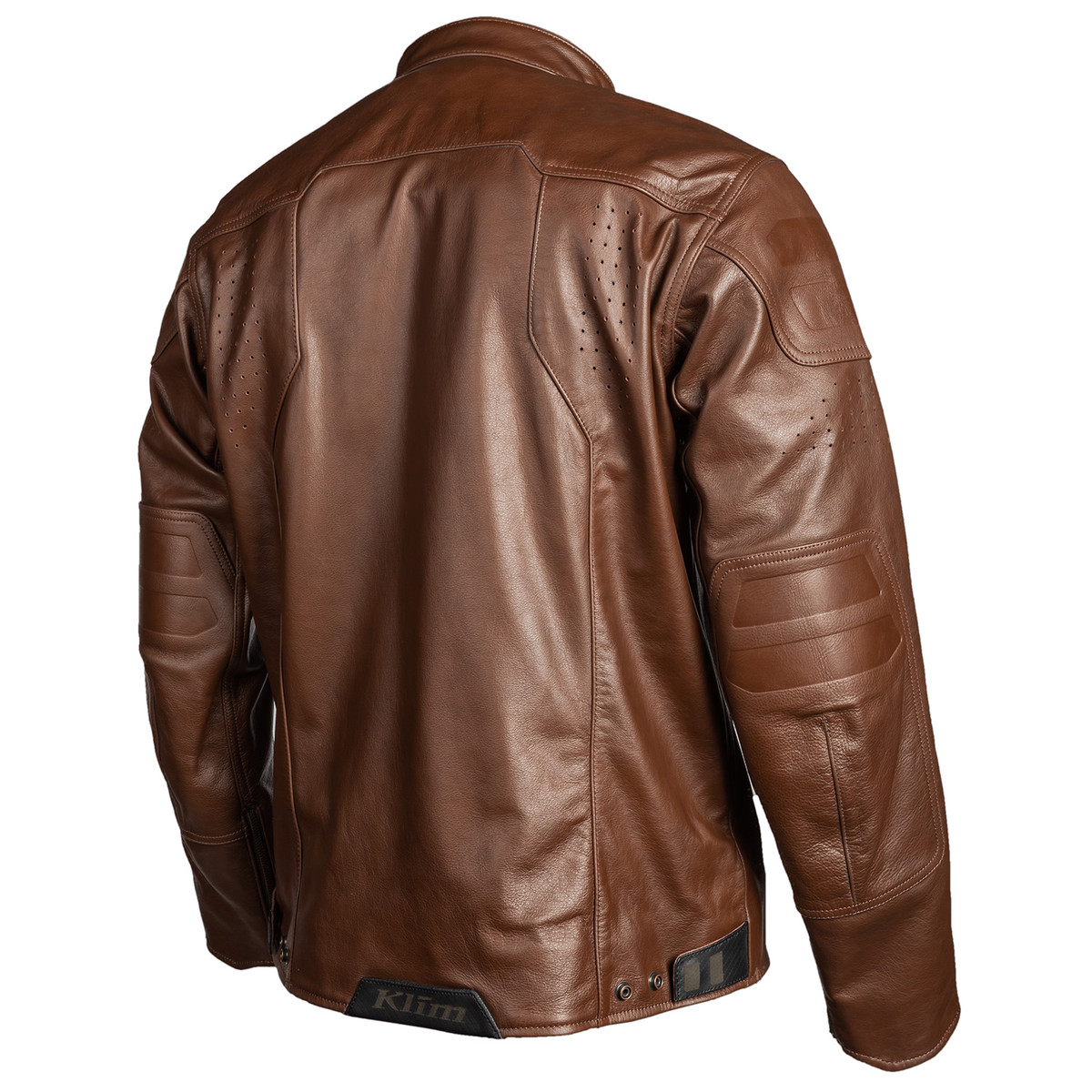 Sixxer Brown Leather Jacket Back