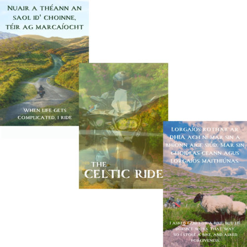 The Set of Three Mystical Gaelic Posters